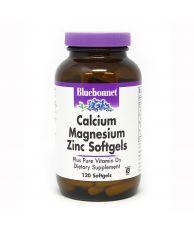 Bluebonnet Calcium Magnesium Zinc + Vitamin D3, 120 Softgels