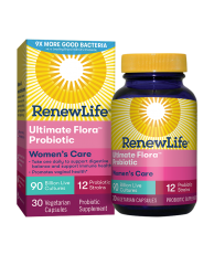 RenewLife, Ultimate Flora Women's Care Probiotic, 90 Billion, 30 Veg. Capsules