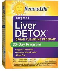 Renew Life, Liver Detox, 30-Day Program, 120 Vegetable Capsule