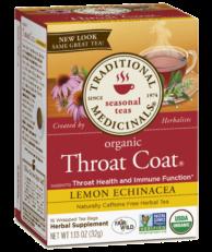 Traditional Medicinals - Organic Throat Coat, lemon Echinacea