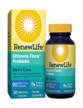 Renew Life, Ultimate Flora Men's Care Probiotic 90 Billion, 30 Vegetable Capsules