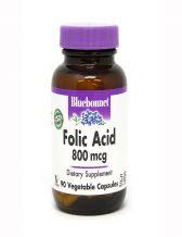 Bluebonnet Folic Acid 800 mcg, 90 Capsules