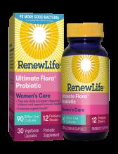RenewLife, Ultimate Flora Women's Care Probiotic, 90 Billion, 30 Veg. Capsules