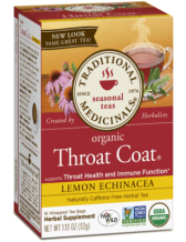 Traditional Medicinals - Organic Throat Coat, lemon Echinacea